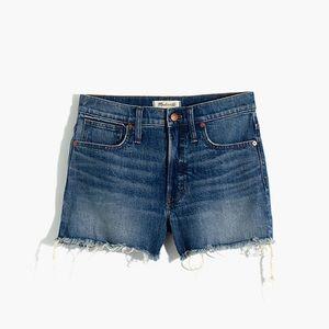 Madewell Rayburn High Rise Denim Shorts